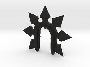 SHURIKEN 2 KEY FOB  in Black Natural Versatile Plastic