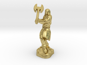 Human Blood Hunter with Battle axe in Natural Brass