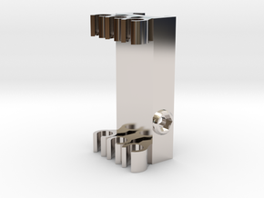 Picatinny Mount For Arrows in Rhodium Plated Brass