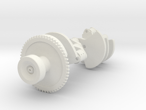 Crankshaft in White Natural Versatile Plastic