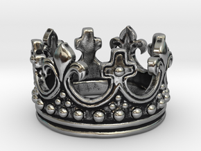 Crown Ring  in Antique Silver