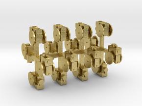 Stationärmotor ohne Transmissionsabtrieb 16erSet T in Natural Brass