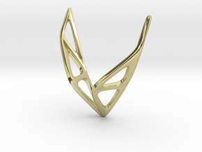 sWINGS Soft Structura, Pendant in 18k Gold Plated Brass