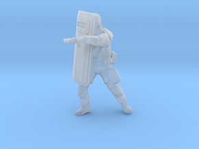Swat-team shield - variation A  in Smooth Fine Detail Plastic