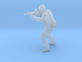Swat-team - RIFLE shooter B in Smooth Fine Detail Plastic