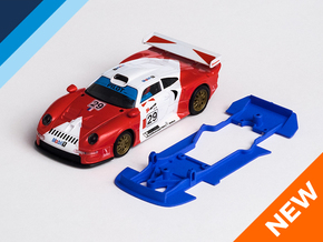 1/32 SCX Porsche 911 GT1 Chassis for Slot.it pod in Blue Processed Versatile Plastic