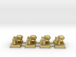 Motor-Generator-Satz (V6) mit Transmission 4erSet  in Natural Brass