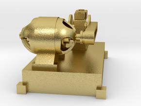 Motor-Generator-Satz (V8) mit Transmission TT 1:12 in Natural Brass