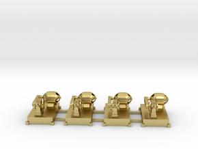 Motor-Generator-Satz (V8) mit Transmission 4erSet  in Natural Brass