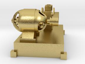 Motor-Generator-Satz (V10) mit Transmission TT 1:1 in Natural Brass