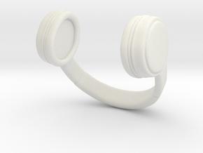 Headphones in White Natural Versatile Plastic