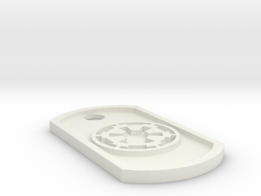 Star Wars Imperial Seal Themed Dog Tag in White Natural Versatile Plastic