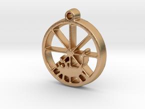 Gerbil Wheel Pendant in Natural Bronze