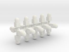 Sächsisches Grenzzeichen 20erSet TT 1:120 in White Natural Versatile Plastic