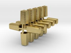 Meilenstein 20er Set 1:120 TT in Natural Brass