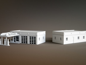 50s Texaco Station Scale: 1:144 in White Natural Versatile Plastic