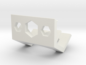 Phone stand in White Natural Versatile Plastic: Medium
