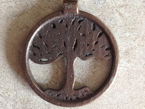 Tree Pendant in Polished Metallic Plastic