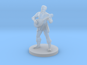 Human Male Bard in Smooth Fine Detail Plastic
