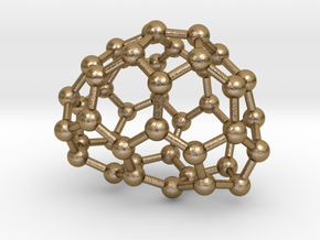 0649 Fullerene c44-21 c1 in Polished Gold Steel