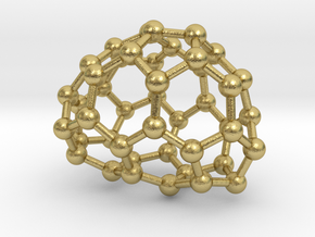 0649 Fullerene c44-21 c1 in Natural Brass