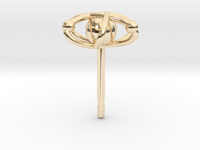 Atom Earring in 14k Gold Plated Brass