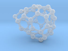 0651 Fullerene c44-23 c1 in Smooth Fine Detail Plastic
