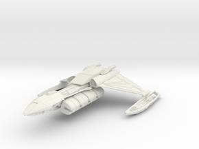 """Klingon D5 Cargo Cruiser 5.4"""" long in White Natural Versatile Plastic"""