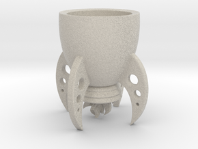 "Rocket cup ""Space XXl"" for Elon Musk in Natural Sandstone"