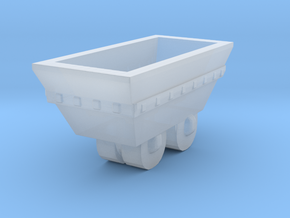 S Scale mine cart in Smooth Fine Detail Plastic