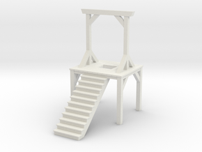 Gallows - Double Posted, Dropped (1/87 Scale) in White Natural Versatile Plastic