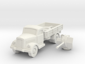 opel blitz with flak 38 scale 1/87 in White Natural Versatile Plastic