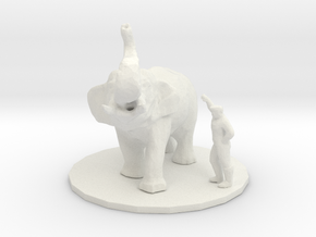 O Scale Elephant trainer in White Natural Versatile Plastic