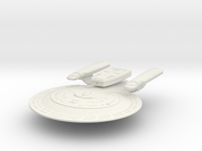 "Federation Springfield Class Cruiser 5.1"" long in White Natural Versatile Plastic"