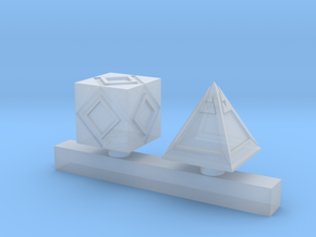 Wizard Hologram Cube Objectives in Smoothest Fine Detail Plastic