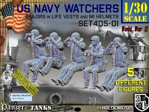 1/30 USN Watchers Set405-01 in White Natural Versatile Plastic