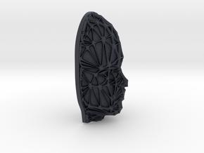 Female Face + Voronoi Mask in Black PA12