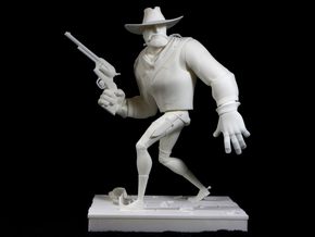 The Gunfighter (Large) in White Natural Versatile Plastic