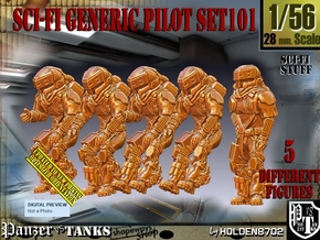 1/56 Sci-Fi Generic Pilot Set101 in Smooth Fine Detail Plastic