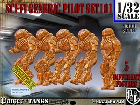 1/32 Sci-Fi Generic Pilot Set101 in White Natural Versatile Plastic