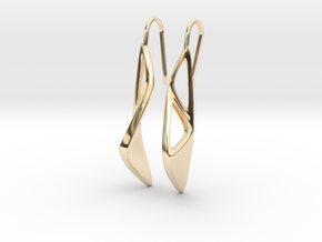 sWINGS OC Earrings in 14K Yellow Gold