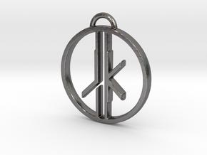 Jedi Knight Logo Pendant in Polished Nickel Steel