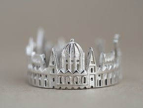 Budapest Skyline - Graduation Gift in Polished Silver: 5 / 49