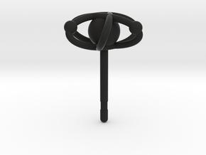Atom Earring in Black Premium Versatile Plastic