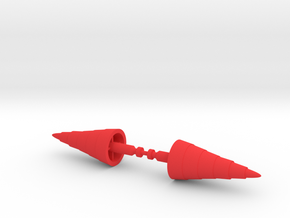 Jeeg large pointy missiles in Red Processed Versatile Plastic