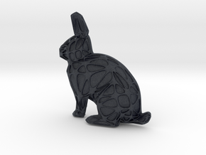 Rabbit + Voronoi Mask in Black Professional Plastic