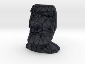 Moai Face + Voronoi Mask in Black Professional Plastic