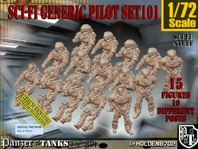 1/72 Sci-Fi Generic Pilot Set101 in Smooth Fine Detail Plastic