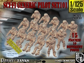 1/125 Sci-Fi Generic Pilot Set101 in Smooth Fine Detail Plastic