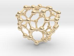 0654 Fullerene c44-26 c1 in 14k Gold Plated Brass